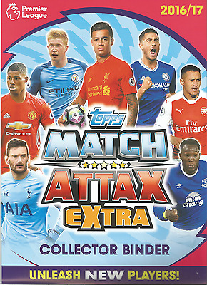 Match Attax Extra 16/17 Complete Set Of Cards In A Binder + 3 Ltd