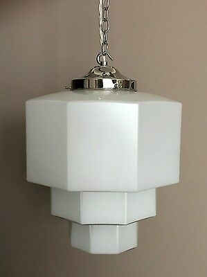 Large Art Deco Skyscraper Ceiling Pendant Light Fitting Shade