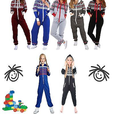 Kids Girls Boys Children's AZTEC Print Hooded ALL IN ONE JUMPSUIT Playsuit
