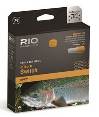 Rio InTouch Switch Rod Chucker Series Fly Line Spey Green/Orange/Gray 100ft
