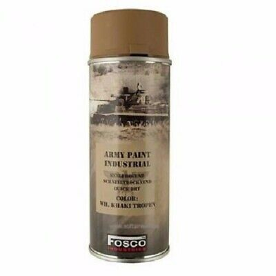 Bombe De Peinture Militaire Spray Fosco 400 Ml Wh Sand Tropical Khaki Tropen