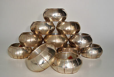 12 TESTED Silver-Plated Indian FORMAL Napkin Rings