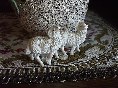 Nativity Sheep Italy Ram and Ewe Marked for Christmas Manger Scene Crèche Set