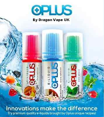 OPLUS Premium E Liquid Juice- 4x 10ml Bottles, All Flavours & Nicotine Strengths