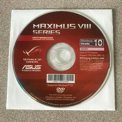 """NEW"" ASUS Maximus VIII Hero Motherboard Drivers Installation DVD"