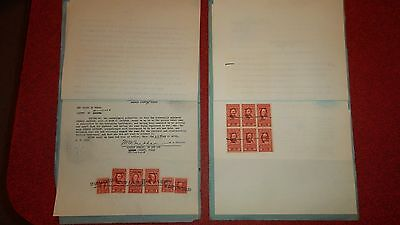 2 Texas Deeds  -  Documentary Stamps  Series 1949 and 1951