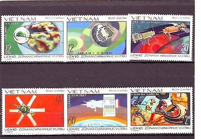 a107 - VIETNAM - SG226-231 MNH 1978 20 YEARS OF RUSSIAN SPACE EXPLORATION