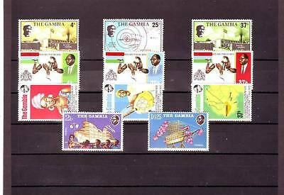 a118 - GAMBIA - 4 MNH SETS FROM 1972 ALL DIFFERENT