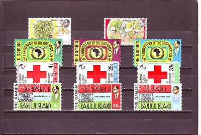 a118 - GAMBIA - 4 MNH SETS FROM 1973 ALL DIFFERENT
