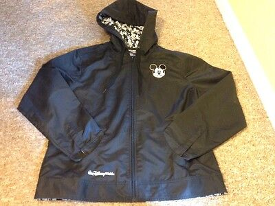 Walt Disney World Parks Mickey Mouse Jacket hood Zip Black Women's L Large EUC