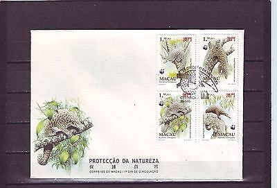 Macao/macau - Sg880-883 Chinses Pengolin 18/4/95 First Day Cover - Fdc