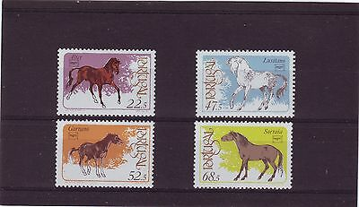 Portugal -  Sg2046-2049 Mnh 1986 Thoroughbred Horses