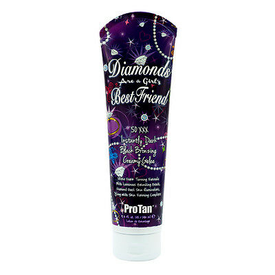 Pro Tan DIAMONDS ARE A GIRLS BEST FRIEND Dark Bronzer Tanning Bed Lotion Gelee