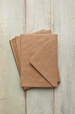 C7 Small, Mini Recycled Kraft RIBBED Envelopes 113mm x 82mm*high quality UK MADE
