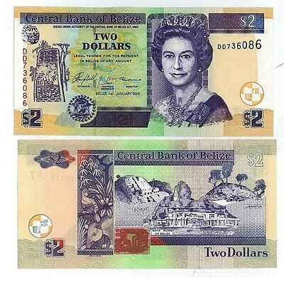 Belize billet neuf de 2 dollar pick 66 UNC
