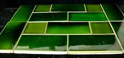 "14 Matching Antique Sherwin & Collins England Tiles - 10 - 6""x3""   - 4 - 3"" x 3"""