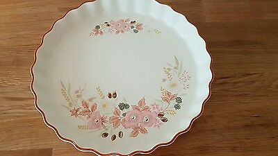 Boots Hedge Rose Flan Pie Oven Dish