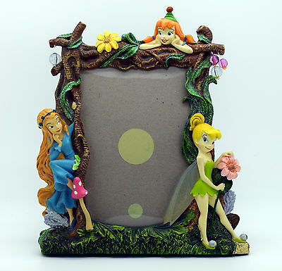 "Disney Fairies Tinkerbell Photo Frame  - Resin - 4 x 6"" Size - Picture Frame"