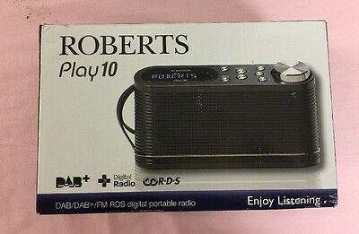 ROBERTS PLAY 10 Portable DAB+/FM Radio LCD display Mains & battery powered White