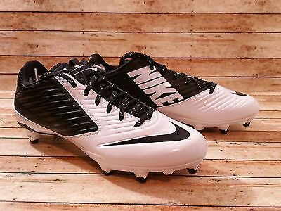 NEW Nike Vapor Speed Low Football Cleats Size 11.5 White Black Detachable cleats