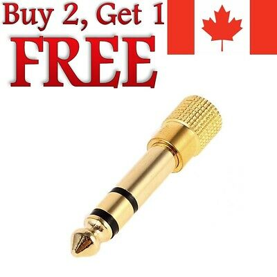 """6.5mm 1/4"""" Male to 1/8"""" 3.5mm Audio Jack Stereo Headphone Adapter 3.5mm to 6.5mm"""