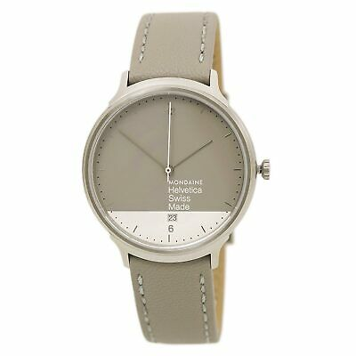 Mondaine MH1.L2280.LH Women's Grey & White Dial Grey Strap Watch
