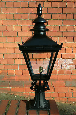 Small Traditional Black Victorian Lantern with cast iron base 4723