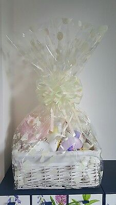 Baby Basket /Baby Girl /Baby Gift Basket/Baby Shower in Pink. by Dragonfly Gifts