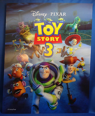 DISNEY TOY STORY 3  3D Color Lenticular Lithograph Three Dimensional PIXAR Promo