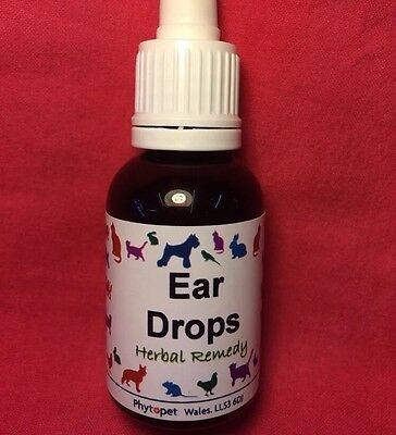 Ear Drops Herbal Repels Mites Parasites Clear Wax DOG Cat Small Animal Birds