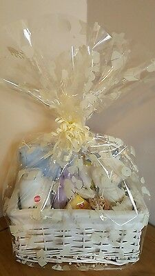 Baby basket/Baby Boy/Baby gift basket/Baby Shower in Blue.   by Dragonfly Gifts.