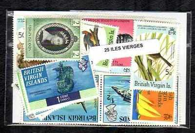 Iles Vierges - Virgin Islands 25 timbres différents