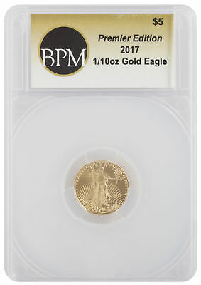 2017 - $5 1/10oz Gold American Eagle BPM/eBay Premier Edition Holder