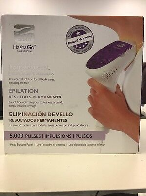 Silk'n Flash & Go Hair Removal Device w/ 5000 Pulses New Open Box.