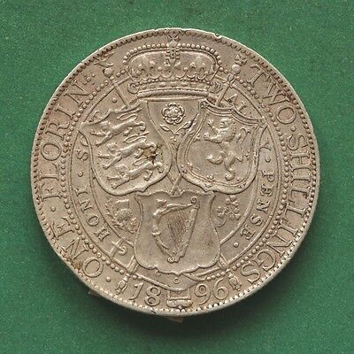 1896 Queen Victoria Silver Two Shillings/Florin SNo43670