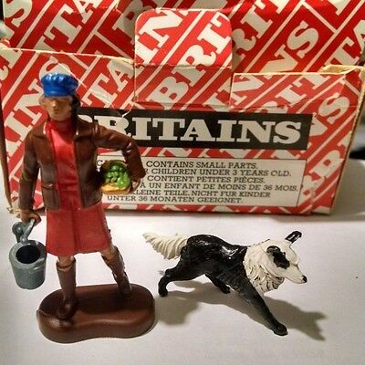 Britains Farmer's Wife and Sheep Dog 1971