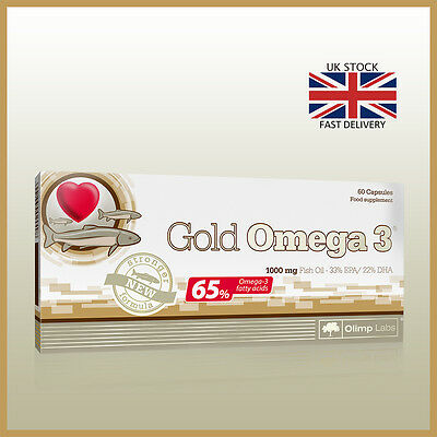 OLIMP GOLD OMEGA 3 CAPS 1000MG FISH OIL - 65% OMEGA 3 - EPA + DHA Healthy Heart