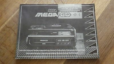 Sega Mega CD Mark 1 Instruction Manual Booklet Only  - No Console Included