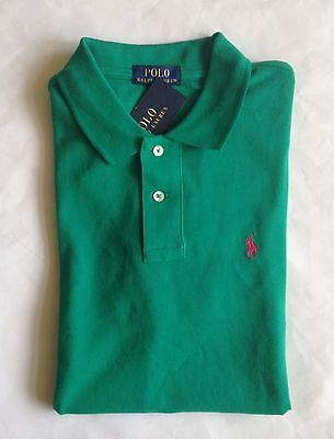 NWT Boys Polo Ralph Lauren Classic True Green Mesh Short Sleeve Shirt L 14-16