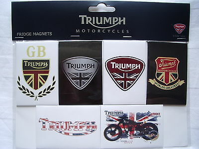 Genuine Triumph Motorcycles Set of 6 Fridge Magnets - MFMS12164