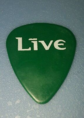 LIVE - Chad Taylor -STAGE USED - 1997 Tour - Signature Green Guitar Pick