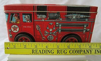 TEXACO RED FIRE ENGINE LITHO TIN COIN BANK #3 - ISSUED in 1997