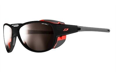 Julbo Explorer 2.0 Black-Red Medium Frame, Alti Arc Cat 4 Lens Sunglasses