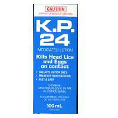 New 100ml KP 24 Head Lice & Eggs Medicated Lotion Hair Head Scalp Treatment