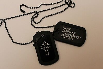 Ireland, Irish, Eire Dog Tag Celtic Cross, St. Patrick Day Army Style Engraving