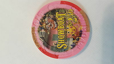 Showboat Casino Atlantic City New Jersey  $2.50 chip - now closed