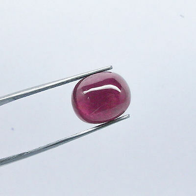 9.85 Ct. OVAL CABOCHON-CUT DEEP REDPURPLE NATURAL RUBY GEMSTONE