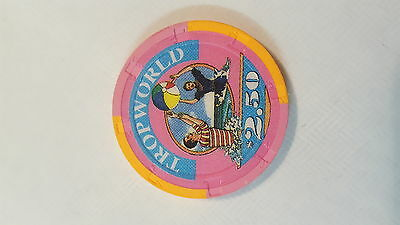 $2.50 Gaming Chip From The Defunked Tropworld Casino Atlantic City