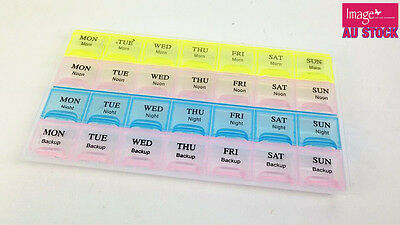 Weekly 7 Days Pill Boxes Medicine Table Box Container Case Storage Holder