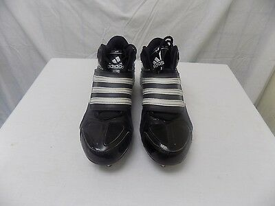 Men's Adidas Scorch Football Cleats Mid-top Size 9,5 Color Black/White